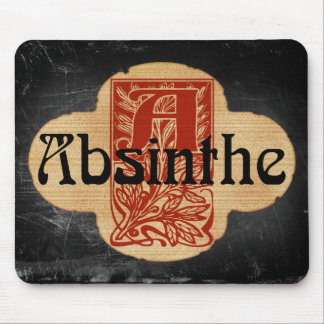 Absinthe Imaginary Bottle Lable Mouse Pad