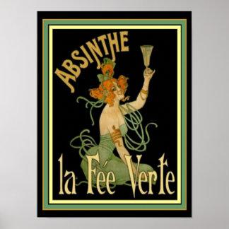 Absinthe La Fee Verte  12 x 16 Print