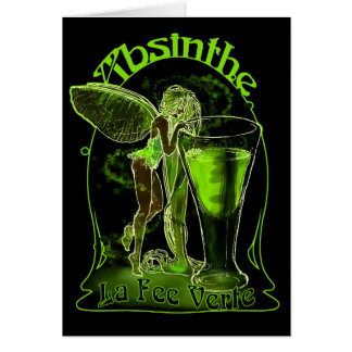 Absinthe La Fee Verte Fairy With Glass Card