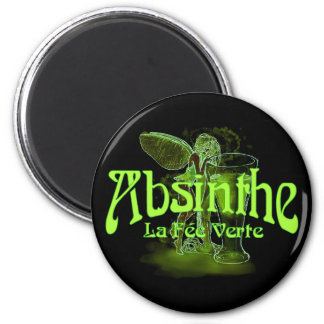 Absinthe La Fee Verte Fairy With Glass Magnet