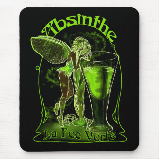 Absinthe La Fee Verte Fairy With Glass Mouse Pad