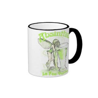 Absinthe La Fee Verte Fairy With Glass Ringer Coffee Mug