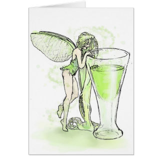 Absinthe La Fee Verte Fairy With Glass (no text) Greeting Card