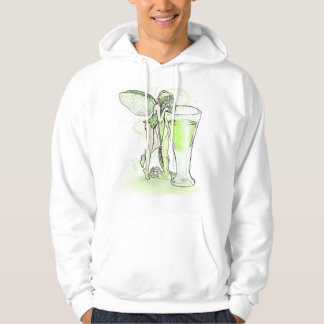 Absinthe La Fee Verte Fairy With Glass (no text) Hoodie