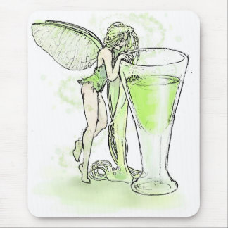 Absinthe La Fee Verte Fairy With Glass (no text) Mouse Pad