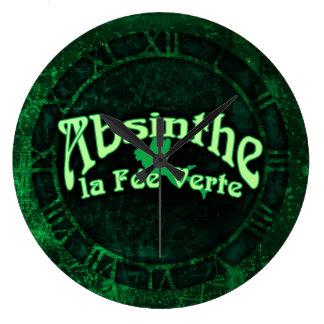 Absinthe La Fee Verte Large Clock
