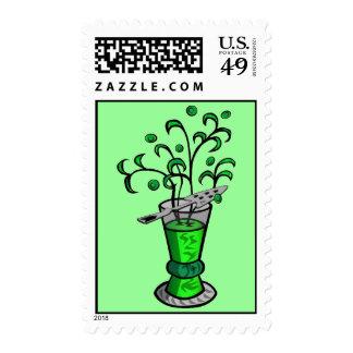 Absinthe, La Fee Verte Stamp