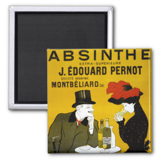 ABSINTHE Makes The Heart Grow Fonder 2 Inch Square Magnet