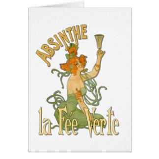 Absinthe makes the heart grow fonder greeting card