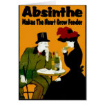 Absinthe MAkes The Heart Grow Fonder Greeting Cards