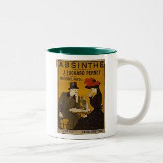 Absinthe Makes The Heart Grow Fonder Two-Tone Coffee Mug