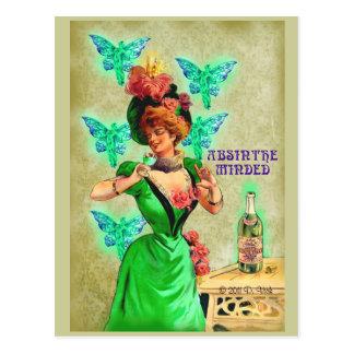 Absinthe Minded Postcard
