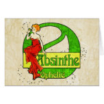 Absinthe Ophelie Woman In Red Dress Cards