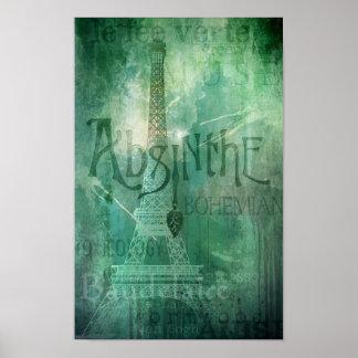 Absinthe Parisian Grunge New Orleans Design Print