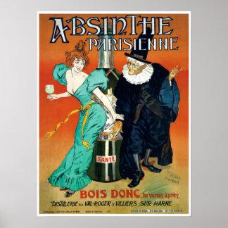 Absinthe Parisienne victorian French Parisian Poster