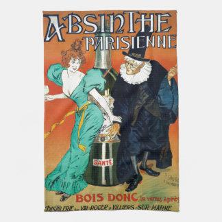 Absinthe Parisienne vintage French advertisement Kitchen Towel