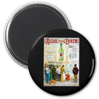 Absinthe Poison 2 Inch Round Magnet