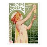 Absinthe Robette 1896 Vintage Poster Restored Postcard