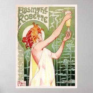 Absinthe Robette Cream Posters