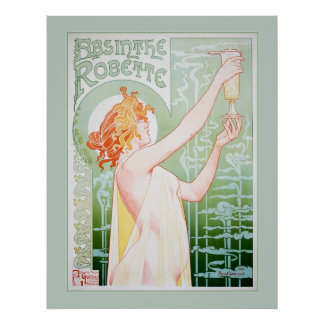 Absinthe Robette Mint Posters