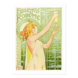 Absinthe Robette, Privat-Livemont Fine Art Postcard