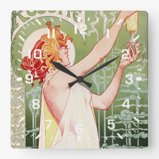 Absinthe Robette Square Wall Clock