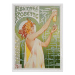 Absinthe Robette Vintage Drink Ad Art Poster