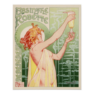 Absinthe Robette Vintage French Advertising Poster
