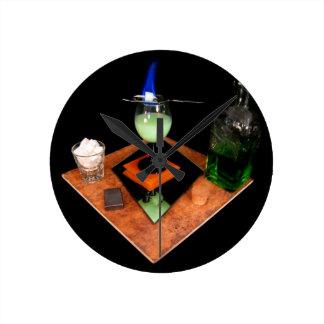 Absinthe Round Clock