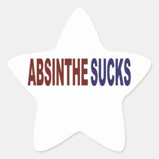 Absinthe Sucks Star Sticker