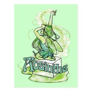 Absinthe Sugar Cube Fairy Postcard