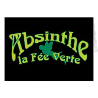 Absinthe Text La Fee Verte Greeting Card