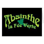 Absinthe Text La Fee Verte Cards