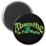 Absinthe Text La Fee Verte Fridge Magnets