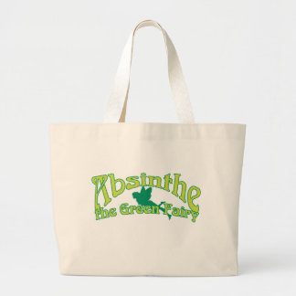 Absinthe Text The Green Fairy Large Tote Bag