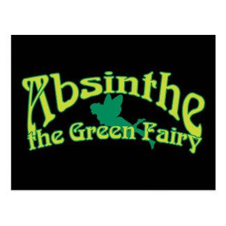 Absinthe Text The Green Fairy Postcard
