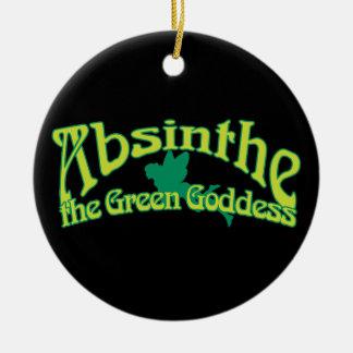 Absinthe Text The Green Goddess Ornaments