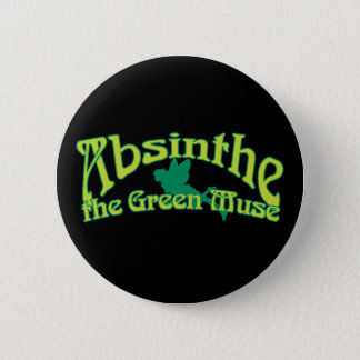 Absinthe Text The Green Muse Button