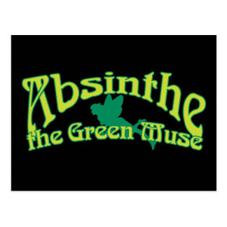 Absinthe Text The Green Muse Postcard