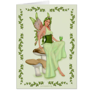 Absinthe - The Green Fairy Greeting Card
