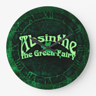 Absinthe The Green Fairy Large Clock