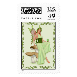 Absinthe - The Green Fairy Stamp