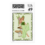 Absinthe - The Green Fairy Postage Stamp