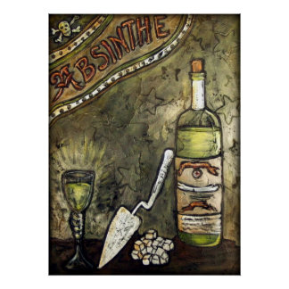 Absinthe ~ The Green Fairy Poster