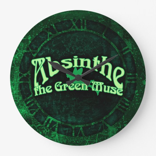Absinthe The Green Muse Large Clock