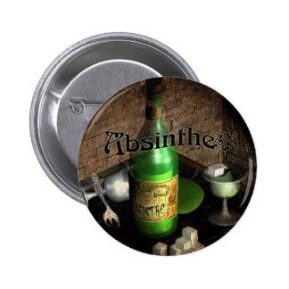 Absinthe Tray Still Life 2 Inch Round Button