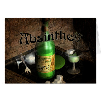 Absinthe Tray Still Life Greeting Card
