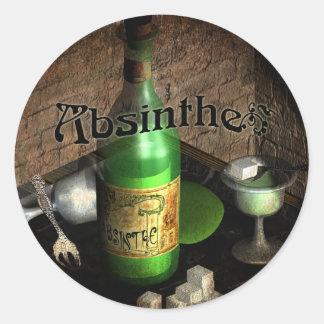 Absinthe Tray Still Life Classic Round Sticker
