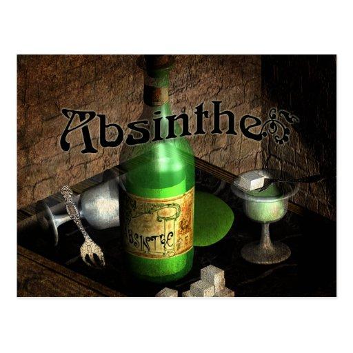 Absinthe Tray Still Life Postcard