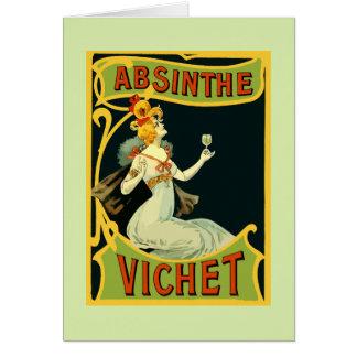 Absinthe Vichet, modern art nouveau Card